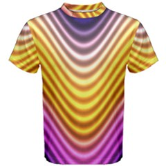 Wave Line Waveform Sound Orange Men s Cotton Tee by Jojostore