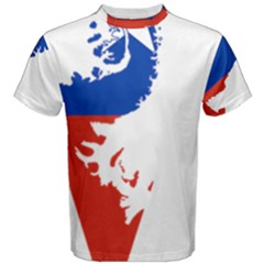 Flag Map Of Chilean Antarctic Territory Men s Cotton Tee