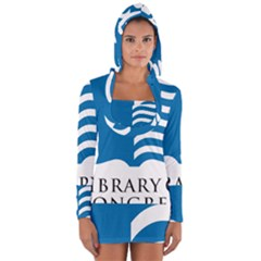 Book Logo Of Library Of Congress Long Sleeve Hooded T Shirt by abbeyz71