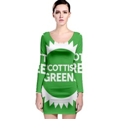 Flag Of Scottish Green Party Long Sleeve Bodycon Dress by abbeyz71