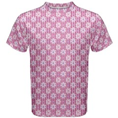 Pretty Pink Flowers Men s Cotton Tee