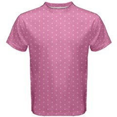 Polka Dotted Pinks Men s Cotton Tee