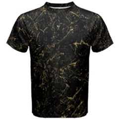 Black Marbled Surface Men s Cotton Tee by Vaneshart