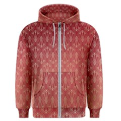 Red Gold Art Decor Men s Zipper Hoodie