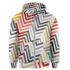 Abstract Colorful Geometric Pattern Men s Zipper Hoodie by Vaneshart