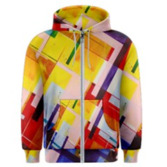 Abstract Lines Shapes Colorful Men s Zipper Hoodie