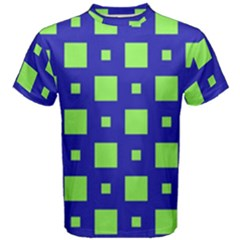 Squares Grid Seamless Men s Cotton Tee