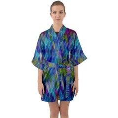 Background  Half Sleeve Satin Kimono  by Sobalvarro
