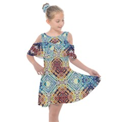 Pattern Kids  Shoulder Cutout Chiffon Dress by Sobalvarro