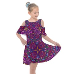 Kaleidoscope  Kids  Shoulder Cutout Chiffon Dress by Sobalvarro
