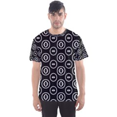 Black And White Pattern Men s Sports Mesh Tee