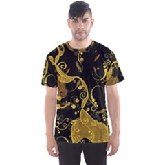 Floral Pattern Background Men s Sports Mesh Tee
