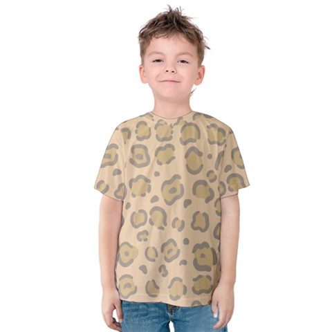 Leopard Print Kids  Cotton Tee by Sobalvarro