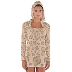 Leopard Print Long Sleeve Hooded T-shirt by Sobalvarro