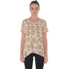 Leopard Print Cut Out Side Drop Tee by Sobalvarro