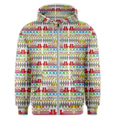 Christmas Digital Paper Men s Zipper Hoodie
