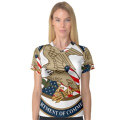 Seal Of United States Patent And Trademark Office V Neck Sport Mesh Tee