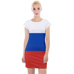 National Flag Of Russia Cap Sleeve Bodycon Dress by abbeyz71