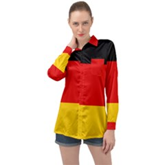 Flag Of Germany Long Sleeve Satin Shirt by abbeyz71