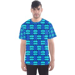 Pattern Graphic Background Image Blue Men s Sports Mesh Tee