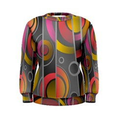 Abstract Colorful Background Grey Women s Sweatshirt