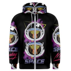 Spacemonkey New Retro Wave Men s Zipper Hoodie by goljakoff