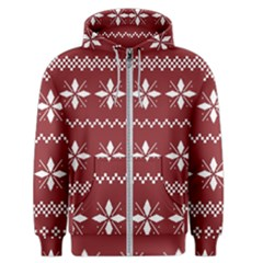 Christmas Pattern Men s Zipper Hoodie by Sobalvarro