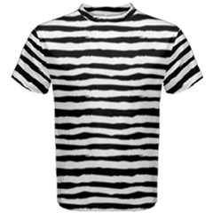 Drawing Waves Pattern Men s Cotton Tee