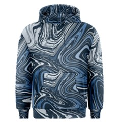 Blue Liquid Marble Men s Pullover Hoodie by goljakoff