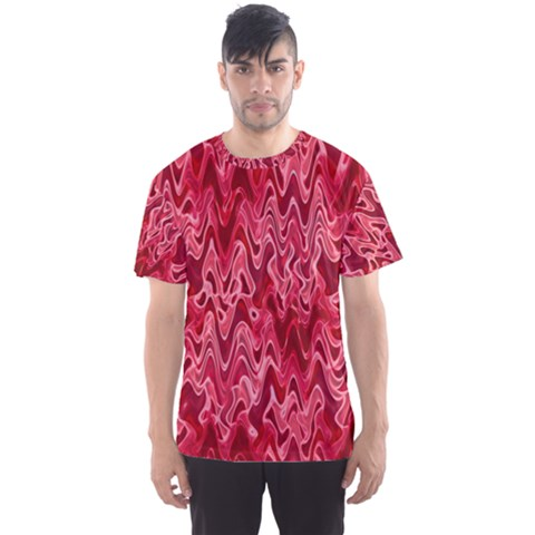 Background Abstract Surface Red Men s Sports Mesh Tee by HermanTelo