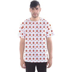 Background Flowers Multicolor Men s Sports Mesh Tee
