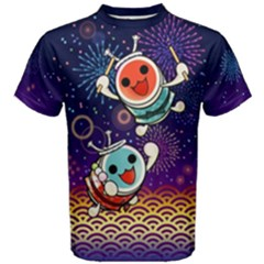 Taiko Fireworks Cotton Men s Cotton Tee by concon