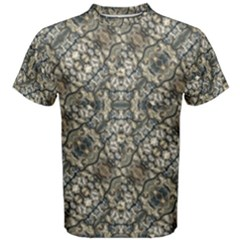 Urban Art Textured Print Pattern Men s Cotton Tee by dflcprintsclothing