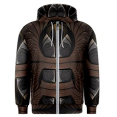 Fractal Abstract Background Pattern Men s Zipper Hoodie