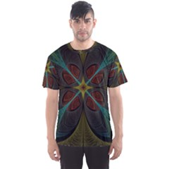 Fractal Art Abstract Pattern Men s Sports Mesh Tee