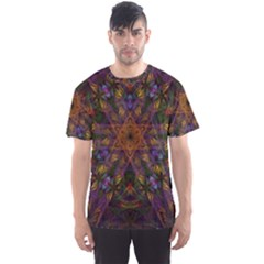 Fractal Abstract Background Pattern Men s Sports Mesh Tee