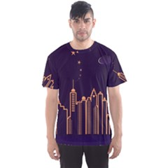 Skyscraper Town Urban Towers Men s Sports Mesh Tee