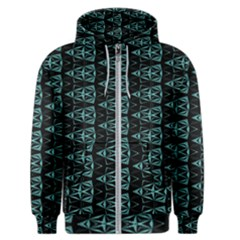Digital Triangles Men s Zipper Hoodie