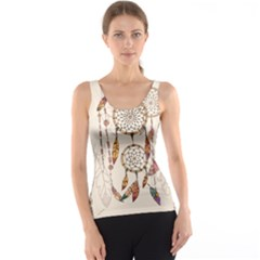Coloured Dreamcatcher Background Tank Top