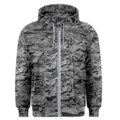 Black And White Texture Print Men s Zipper Hoodie