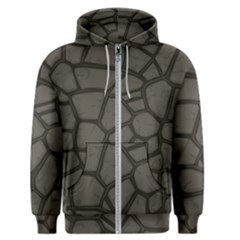 Cartoon Gray Stone Seamless Background Texture Pattern Men s Zipper Hoodie