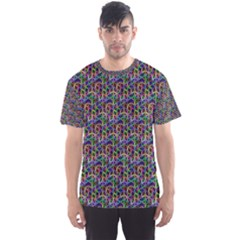 Seamless Prismatic Geometric Pattern With Background Men s Sport Mesh Tee