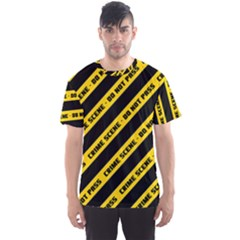 Warning Colors Yellow And Black - Police No Entrance 2 Men s Sport Mesh Tee
