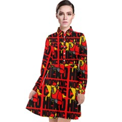 Working Class Hero - Welders And Other Handymen Are True Heroes - Work Long Sleeve Chiffon Shirt Dress by DinzDas