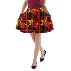 Working Class Hero - Welders And Other Handymen Are True Heroes - Work A-line Pocket Skirt by DinzDas