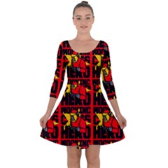 Working Class Hero - Welders And Other Handymen Are True Heroes - Work Quarter Sleeve Skater Dress by DinzDas