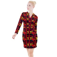 Working Class Hero - Welders And Other Handymen Are True Heroes - Work Button Long Sleeve Dress by DinzDas