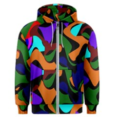 Trippy Paint Splash, Asymmetric Dotted Camo In Saturated Colors Men s Zipper Hoodie by Casemiro