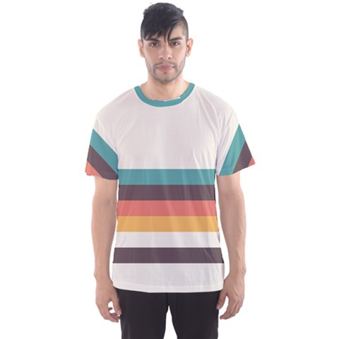 Classic Retro Stripes Men s Sport Mesh Tee by tmsartbazaar