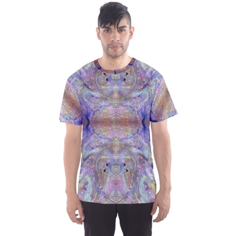 Amethyst Marbling Men s Sport Mesh Tee by meanmagentaphotography